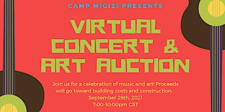Virtual Concert and Art Auction tickets