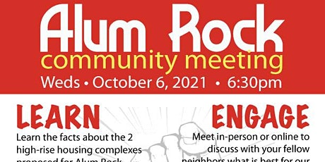 Alum Rock Neighborhood Meeting tickets