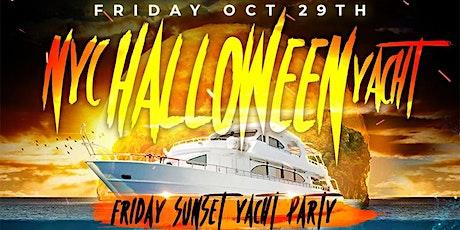 NYC Halloween Friday Sunset Ghost Yacht Cruise Skyport Marina Jewel Yacht tickets