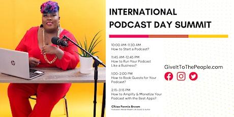 International Podcast Day Summit tickets