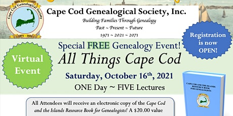 Genealogy Day ~ All Things Cape Cod tickets