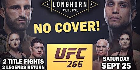 UFC 266: Volkanovski vs Ortega ☆★NO COVER!★☆ 2 Title Fights! tickets