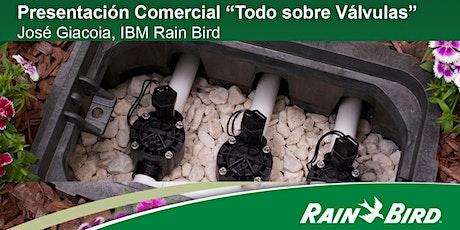"""Presentación Comercial """"Todo sobre Válvulas"""".  José Giacoia, IBM Rain Bird entradas"""