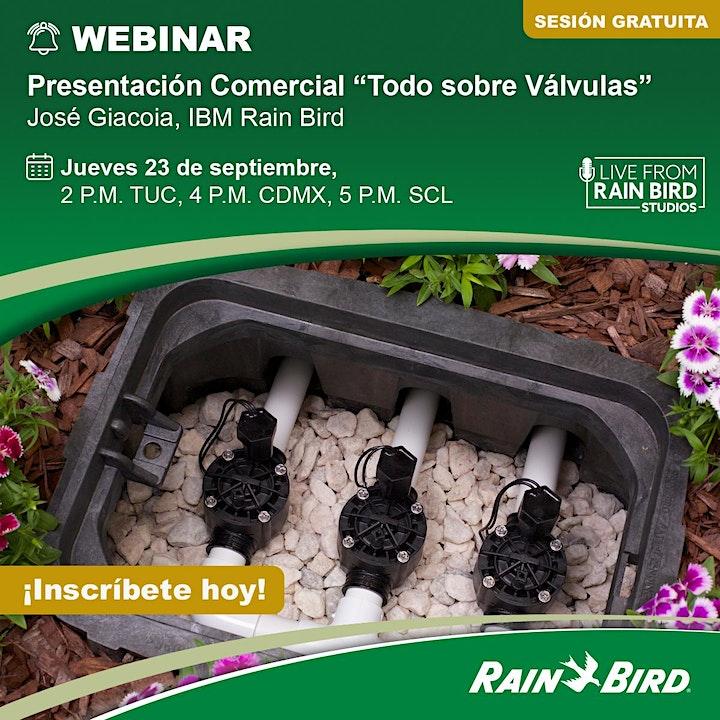 """Imagen de Presentación Comercial """"Todo sobre Válvulas"""".  José Giacoia, IBM Rain Bird"""