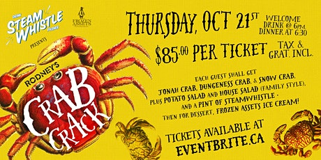 Rodney's Crab Crack with Steam Whistle Brewery 2021 tickets