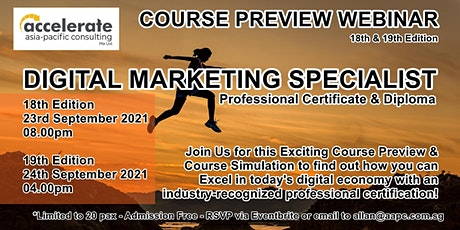 Course Preview - Professional Certificate in Digital Marketing 18th Run tickets