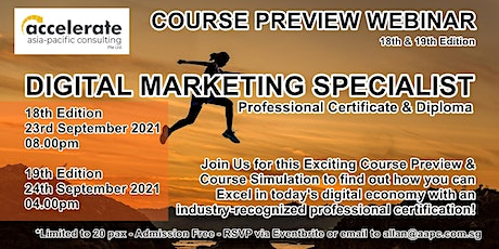 Course Preview - Professional Certificate in Digital Marketing 19th Run tickets