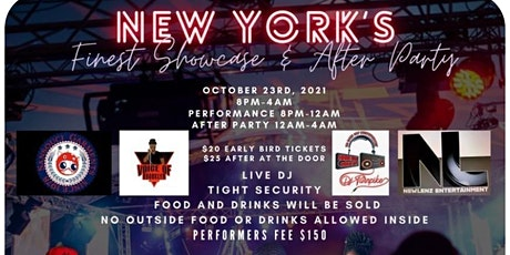NEW YORK'S FINEST SHOWCASE AND AFTER PARTY tickets