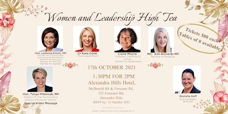 Women and Leadership High Tea tickets
