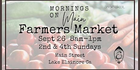 Mornings on Main Farmers Market tickets