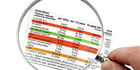 Learn to Read and Better Understand A Nutrition Label tickets