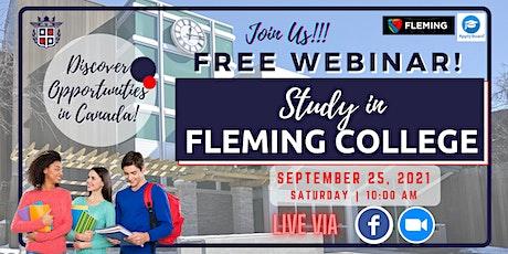 FREE WEBINAR: STUDY IN FLEMING COLLEGE, ONTARIO, CANADA tickets