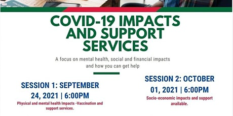 VIRTUAL COMMUNITY INFO SESSIONS - COVID-19 IMPACTS AND SUPPORT SERVICES. tickets