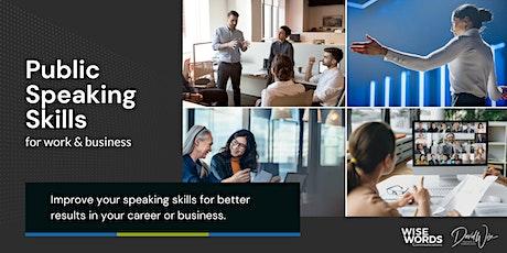Public Speaking Skills for Work & Business tickets