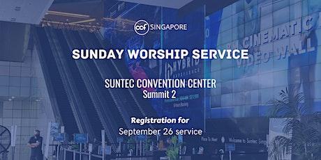 CCF SG SUNDAY WORSHIP SERVICE - 26 September tickets