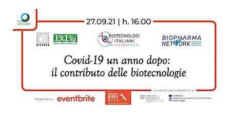 EBW 2021 | Covid-19 un anno dopo: il contributo delle biotecnologie biglietti