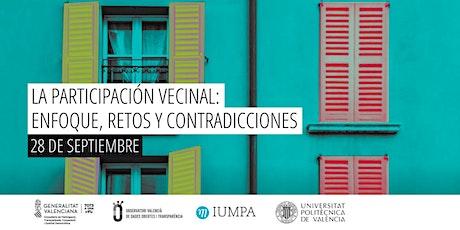 La participación vecinal: enfoque, retos y contradicciones. boletos