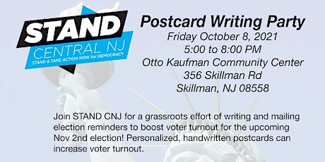 STAND CNJ Voter Mobilization Postcard Writing 2021 tickets