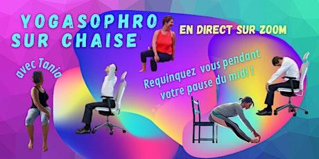 YOGAsophro : cours mieux-être sur chaise lors votre pause du midi billets
