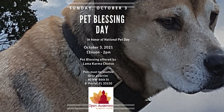 Pet Blessing Day at Open Awareness Buddhist Center tickets