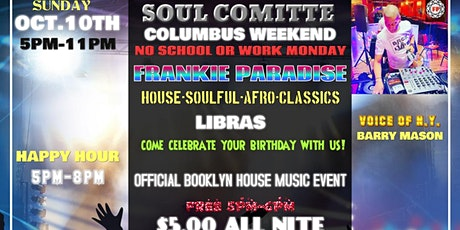SOUL COMITTE COLUMBUS WEEKEND EVENT FRANKIE PARADISE tickets
