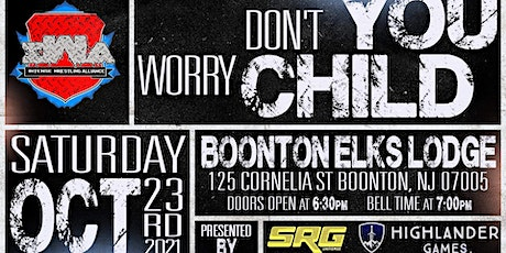 """IWA """"Don't You Worry Child"""" LIVE PRO WRESTLING BOONTON NJ OCT 23RD 7PM tickets"""