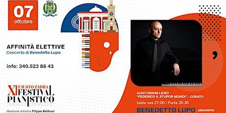 """Benedetto Lupo al Festival pianistico """"Fausto Zadra"""" -  Città di Corato biglietti"""