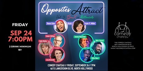 The Opposites Attract Show at The Comedy Chateau tickets