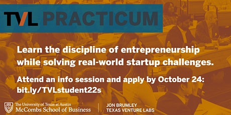 TVL Practicum AMA: Hands-on Experience in Consulting & Startup Leadership tickets