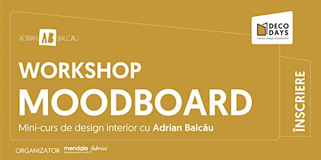 Înscriere Workshop Mini Curs de Design cu Adrian Balcău   Deco Days 2021 tickets