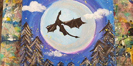 10/10 $22 Dragon Moon  @ Paint Like ME Studio tickets