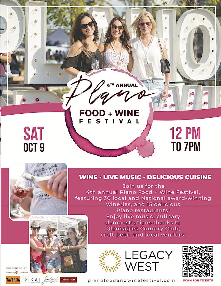 4th Annual Plano Food + Wine Festival image