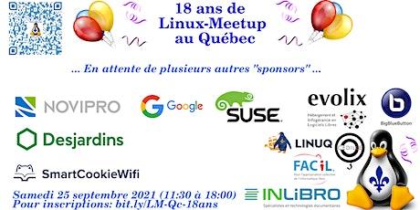 18 ans de Linux-Meetup au Québec! billets