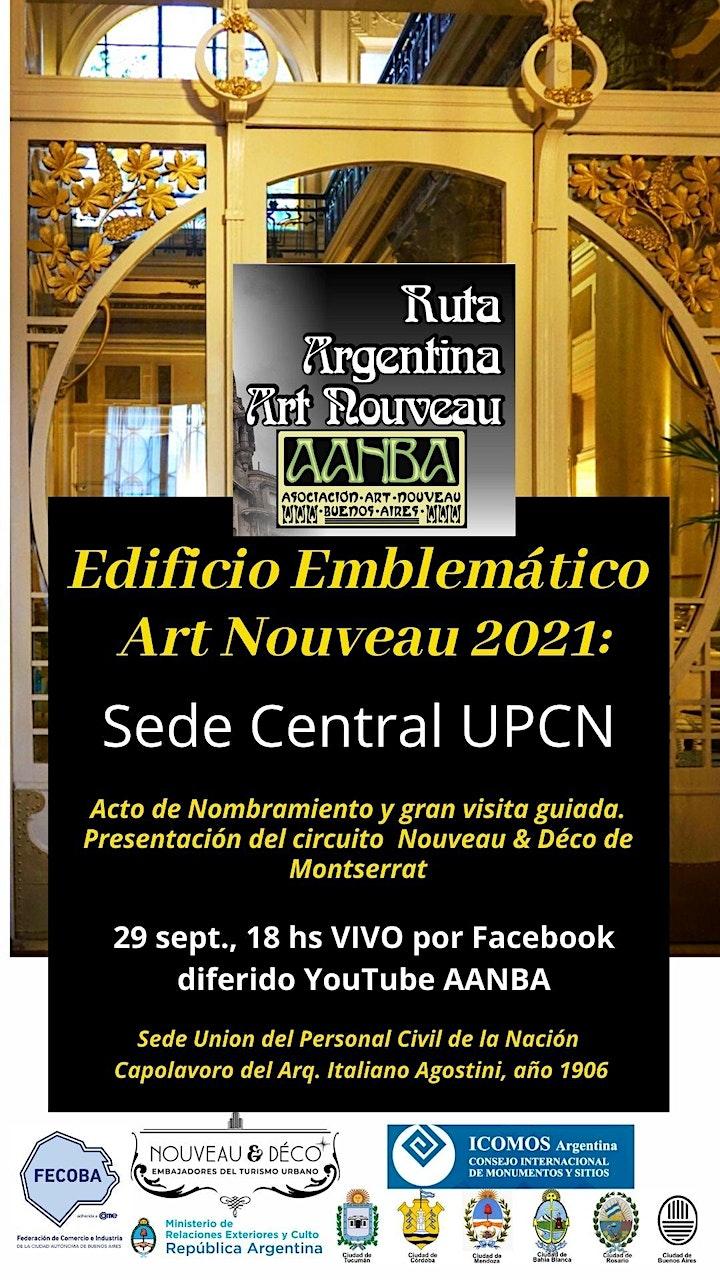 Imagen de EDIFICIO EMBLEMATICO ART NOUVEAU 2021 nombramiento y visita guiada en VIVO
