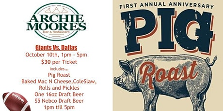 First Annual Pig Roast for the Giants Vs. Cowboys Game tickets