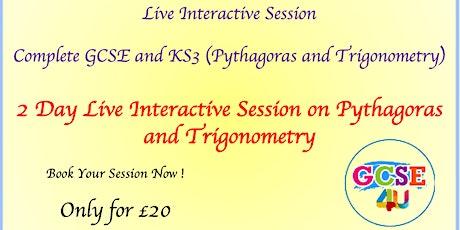 2 Day GCSE Pythagoras and Trigonometry Masterclass (8 Hours Live Teaching) tickets
