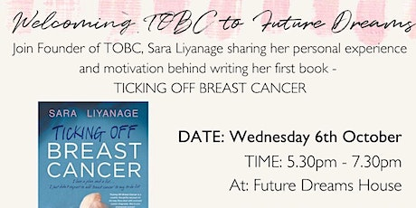 An intimate evening with Sara Liyanage TOBC tickets