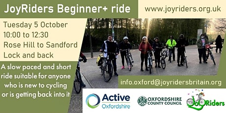 Beginner+ ride: Rose Hill to Sandford Lock (and back) tickets