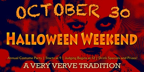 Halloween Costume Party at Verve tickets