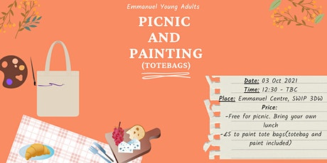Garden Picnic And Painting Tote Bags tickets