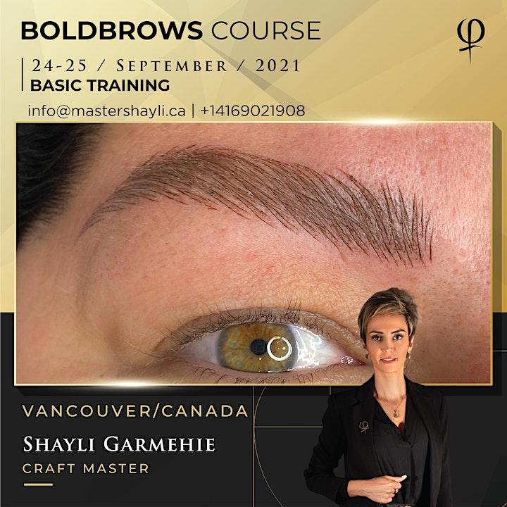 Boldbrows workshop September 2021, Vancouver image