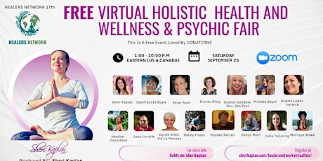 Free Virtual Holistic Health Wellness and Psychic Fair  by Healers Network tickets