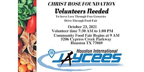 Volunteer Event: Community Drive Thru Food Fair w/ Christ Rose Foundation tickets