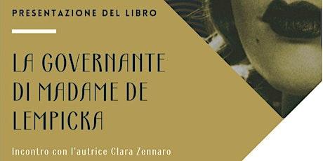 Presentazione del romanzo La governante di madame de Lempicka biglietti
