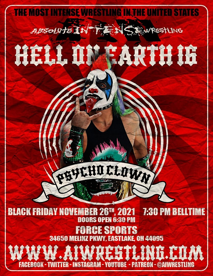 """Absolute Intense Wrestling  Presents """"Hell On Earth 16"""" image"""