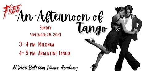 Free An Afternoon of Tango tickets