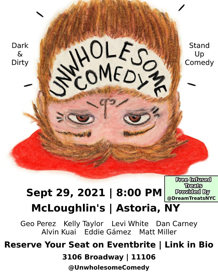 Unwholesome Comedy (A Dark and Dirty Stand-Up Comedy Showcase) image