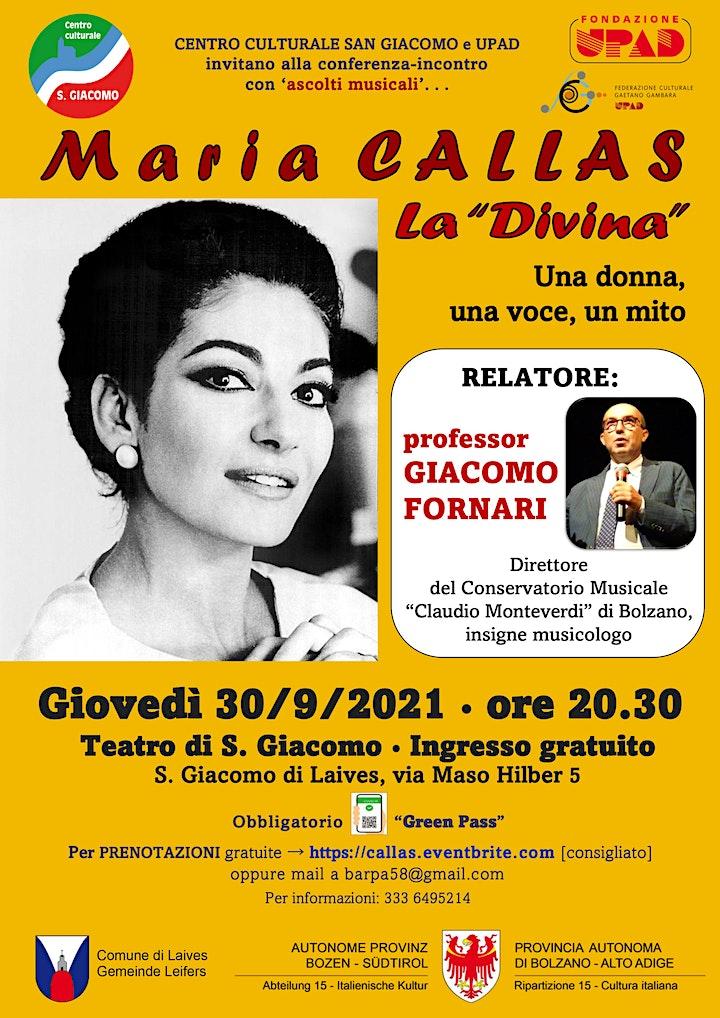 Immagine «MARIA CALLAS, LA DIVINA – una donna, una voce, un