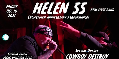HELEN 55 Anniversary Show! Special Guests: Cowboy Destroy & Passenger of Ch tickets