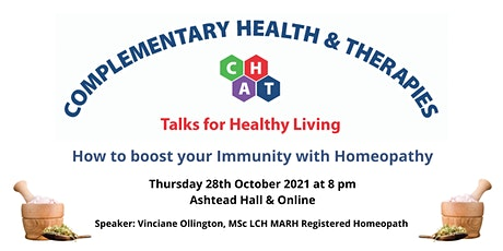 How to boost your Immunity with Homeopathy tickets